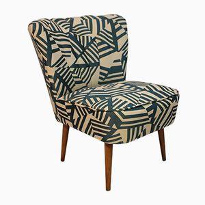 Cocktail Chair with Printed Fabric, 1950s