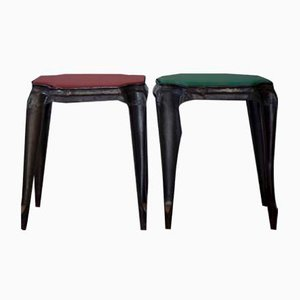 Vintage Stools by Joseph Mathieu for Multipl's, Set of 2