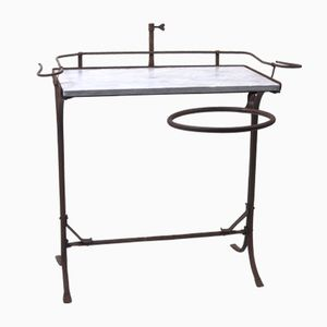 Table Laverie Vintage avec Dessus en Marbre, Italie