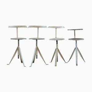Vintage Industrial Stools, Set of 4