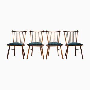 Vintage Holz Esszimmerstühle, 1950er, 4er Set