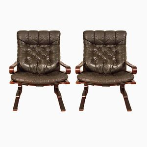 Lounge Chairs by Elsa & Nordahl Solheim for O.P. Rykken & Co., 1976, Set of 2