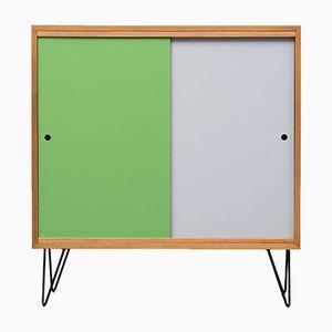 Walnuss Sideboard mit Farbigen Türen, 1960er