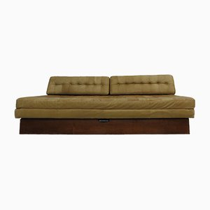 Canapé-Lit Vintage en Cuir