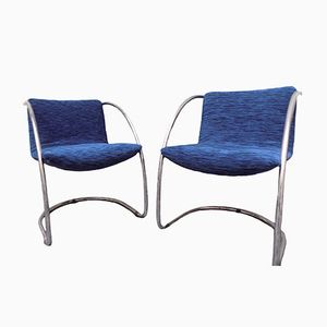Lens Chairs by Giovanni Offredi for Saporiti, 1960s, Set of 2