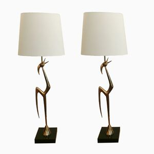 Small Cockerel Floor Lamps by René Broissand, 1970s, Set of 2