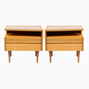 Birch Night Stands, 1950s, Set of 2