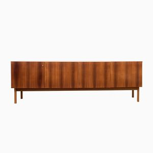 Large Minimalist Walnut Sideboard, 1960s