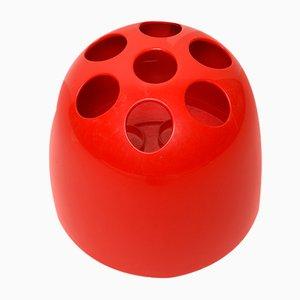 Roter Vintage Dedalo Schirmständer von Emma Gismondi Schweinberger für Artemide