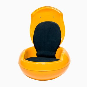 Vintage Yellow Garden Egg Chair by Peter Ghyczy for Reuter