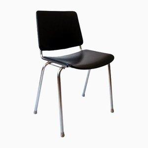 Schwarzer Vintage Skai Stuhl von Mauser Werke