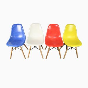 DSW Chairs by Charles & Ray Eames for Herman Miller, 1960s, Set of 4