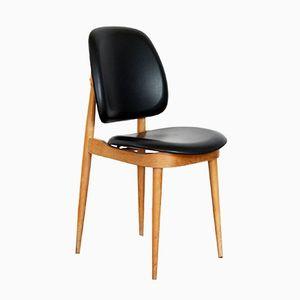 Vintage Stuhl aus Massiver Buche & Kiefernholz von Pierre Guariche
