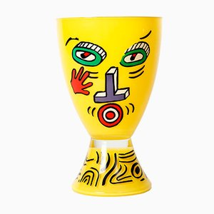 Yellow Vase by Nathalie du Pasquier for Ritzenhoff, 1980s