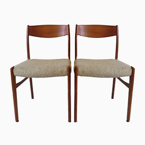 Dänische Vintage Teak Esszimmerstühle von Glyngore Stolefabrik, 1960er, 2er Set