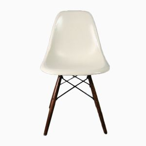 White DSW Side Chair by Charles & Ray Eames for Herman Miller, 1960s