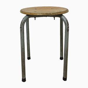 Vintage Metal & Wooden Stool
