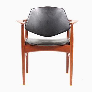 Mid-Century Modern Danish Teak Armchair, 1950s