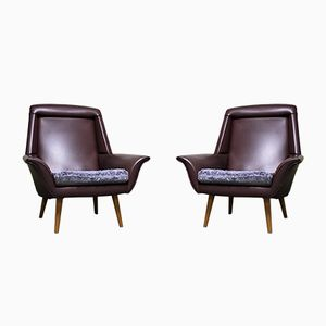 Vintage Purple Cocktail Chairs, 1960s, Set of 2