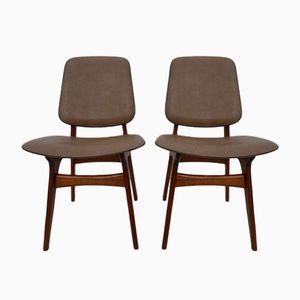 Mid-Century Chairs by Arne Hovmand Olsen for Mogens Kold, Set of 2