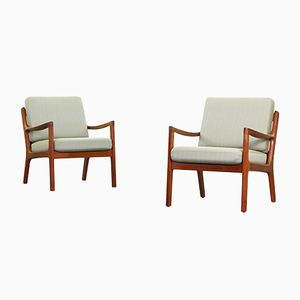 Mid-Century Lounge Chairs by Ole Wanscher for Cado, Set of 2