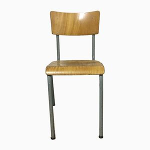 Vintage Industrial School Chair, 1960s