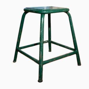 Vintage Green Factory Stool
