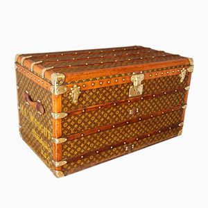 Steamer Trunk with Stenciled Monogram from Louis Vuitton, 1930s