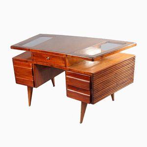 Ovaler Freistehender Schreibtisch von Vittorio Dassi, 1950