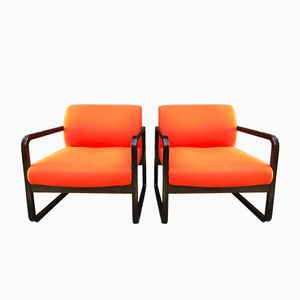 Orange Armchairs from Wilkhahn, Set of 2
