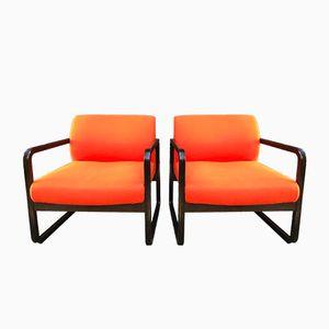 Orange Sessel von Wilkhahn, 2er Set