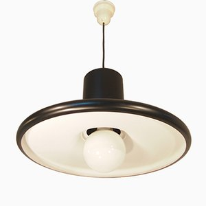 Mid-Century Black Industrial French Pendant from Lita, 1960