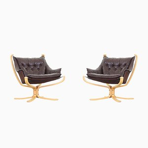Mid-Century Falcon Chairs by Sigurd Resell for Vatne Møble, 1970s, Set of 2