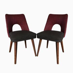 Muschel Esszimmerstühle, 1960er, 2er Set