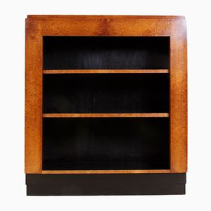 Art Deco French Amboyna Open Bookcase, 1920s