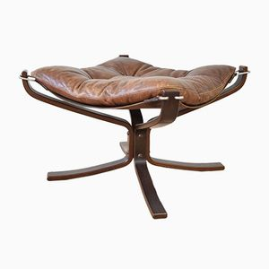 Vintage Norwegian Falcon Foot Stool by Sigurd Ressell for Vatne Møbler, 1970s