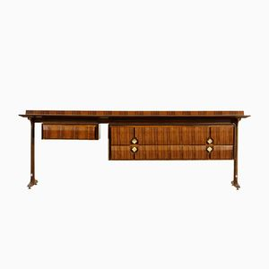 Italian Rosewood & Brass Chest of Drawers from Artigiani del Mobile, 1960s