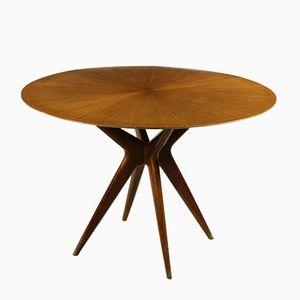 Italienischer Tisch aus Gebeizter Buche & Mahagoni, 1950er