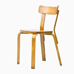 Modell 69 Stuhl von Alvar Aalto für Artek, 1940er