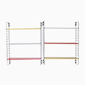 Farbige Pocket Series Bücherregale von A. D. Dekker für Tomado, 2er Set