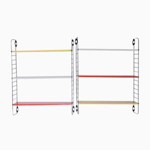 Pocket Series Colored Bookshelves by A. D. Dekker for Tomado, Set of 2