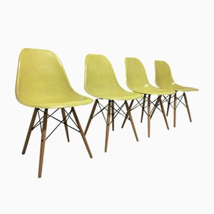 Beistellstühle von Charles & Ray Eames for Herman Miller 1960er, 4er Set
