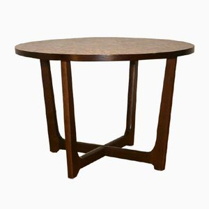 Norwegian Copper Top Table from Vad Trevare Fabrik, 1970s