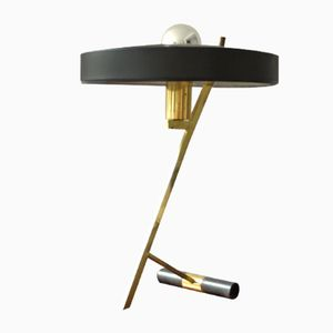 Vintage Brass Z Desk Lamp by Louis Kalff for Philips, 1950s