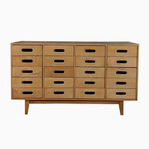 Vintage Beech School Drawers by James Leonard for ESA, 1950s