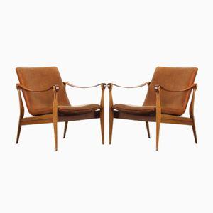 Mid-Century Modern Safari Sessel von Ebbe & Karen Clemmensen für Fritz Hansen
