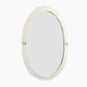 Vintage Large Rattan Sun Mirror