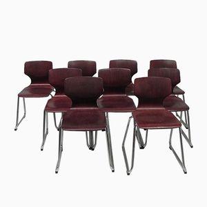 Vintage Stühle von Adam Stegner für Flötotto, 9er Set