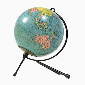 Vintage Illuminated Globe from Girard et Barrère, 1960s