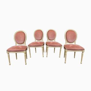 Gustavian Style Medallion Chairs, 1930s, Set of 4